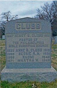 henry clubb gravestone
