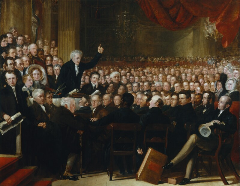 The Anti-Slavery Society Convention, 1840, by Benjamin Robert Haydon, oil on canvas, 1841 NPG 599 © National Portrait Gallery, London