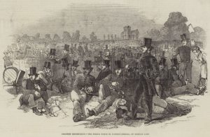 Chartist Excitement, the Police Force in Bonner's-Fields, on Monday Last