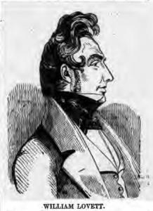 William lovett portrait from The Charter newspaper